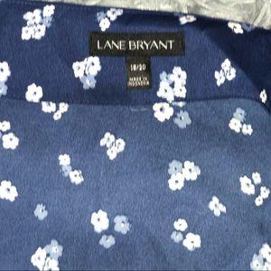 Lane Bryant Tops - Navy blue/ baby blue , floral printed